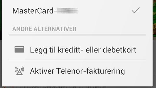 I første omgang går kritikken på Telenor Google Play-tjeneste, der du kan betale med mobilregningen. Forbrukerombudet ønsker imidlertid nye betingelser for alle mobiloperatørenes betaltjenester.