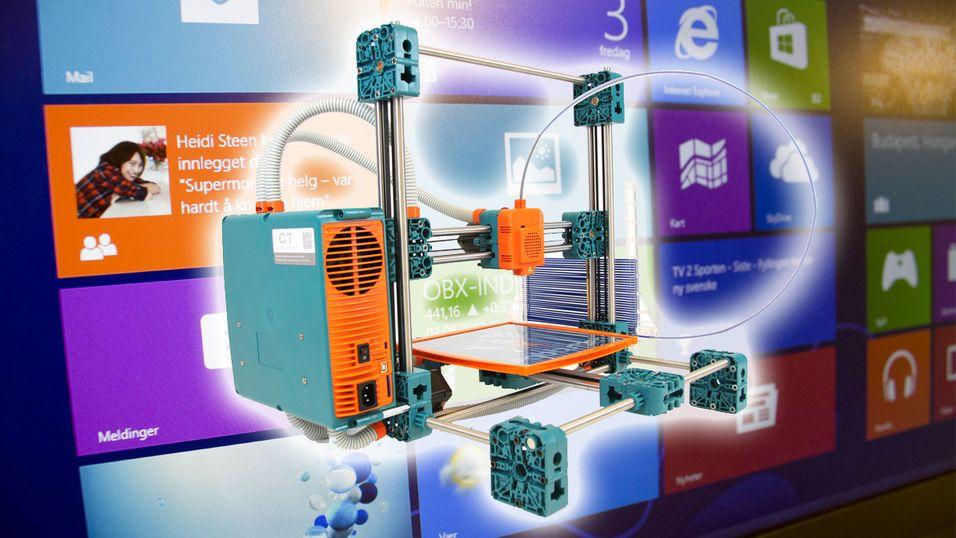 Windows 8.1 støtter 3D-printere