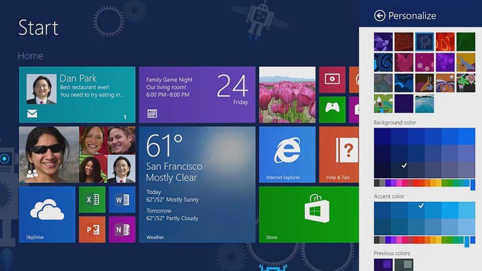 Her er nyhetene i Windows 8.1
