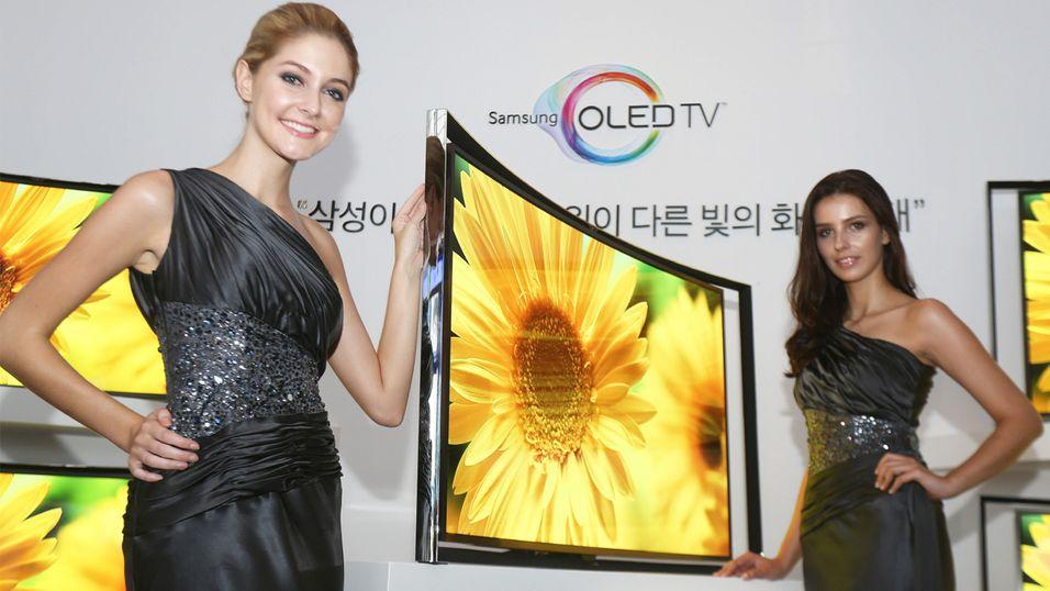 Kurvet OLED-TV fra Samsung