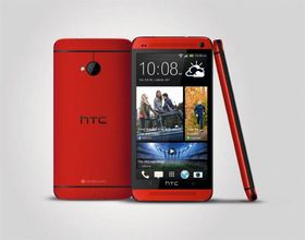 "HTC One ""Glamour Red""."