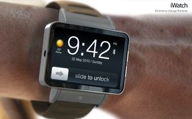 Apples iWatch kommer sannsynligvis til neste år - men det er slett ikke sikkert den blir markedslederen. Bildet er et av mange konseptdesign som ikke stammer fra Apple selv.