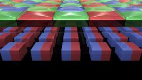 Hver piksel er delt i to fotodioder. .