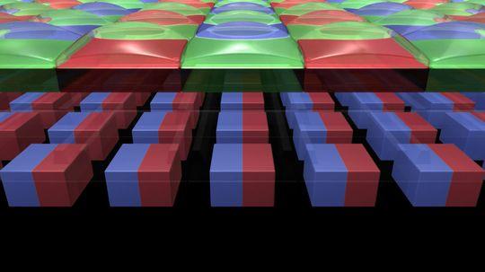 Hver piksel er delt i to.