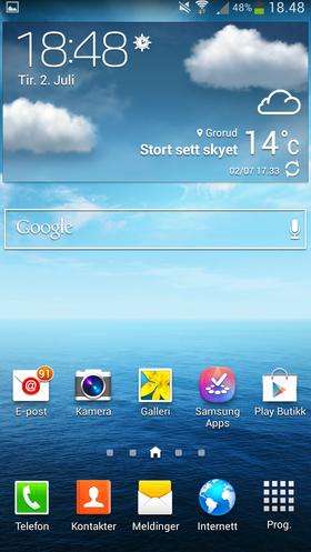 Touch Wiz er noe mer fargerikt enn Googles egen Android-design. Det er likevel lett å finne frem i.