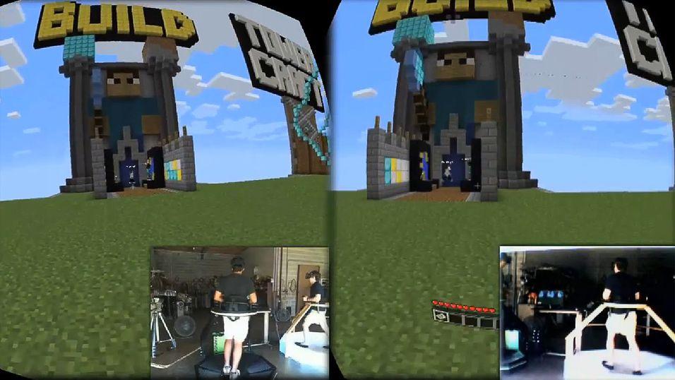 Her  går  de rundt i Minecraft