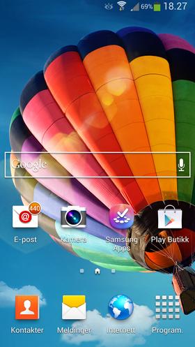 Samsungs Touch Wiz er en fargerik variant av Android-menyene.