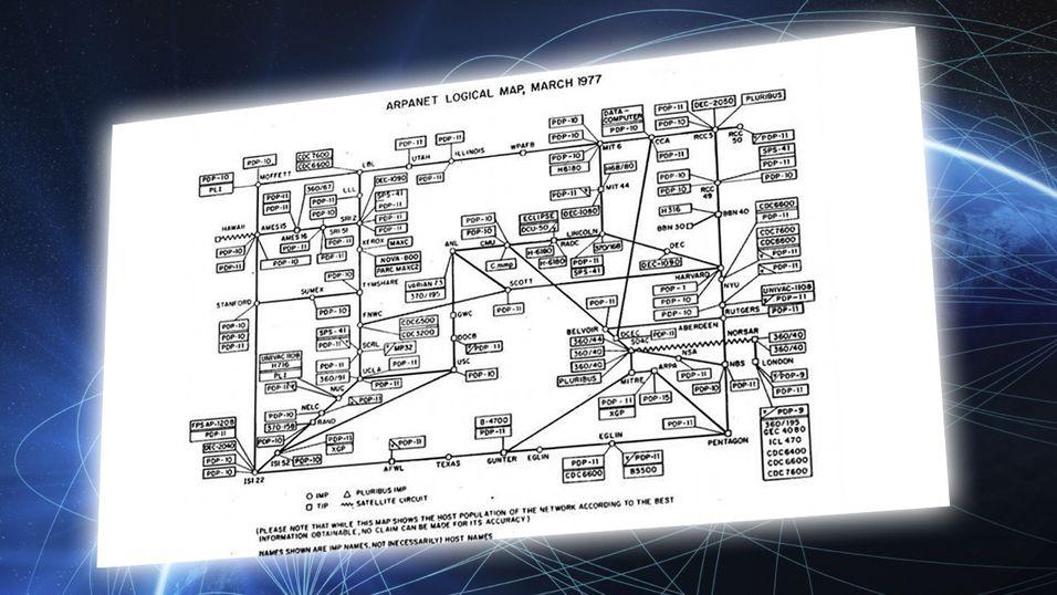 Dette kartet viser hele Internett – i 1977