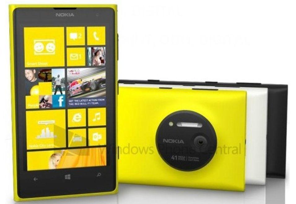 Dette skal være et lekket markedsføringsbilde av den kommende Nokia-telefonen.
