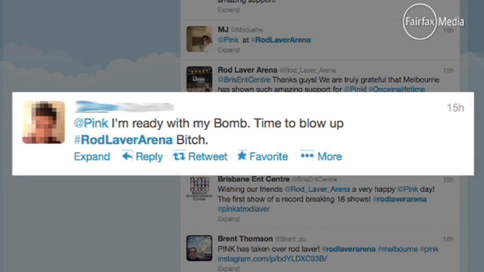 Skrev «bombe» på Twitter – arrestert på Pink-konsert