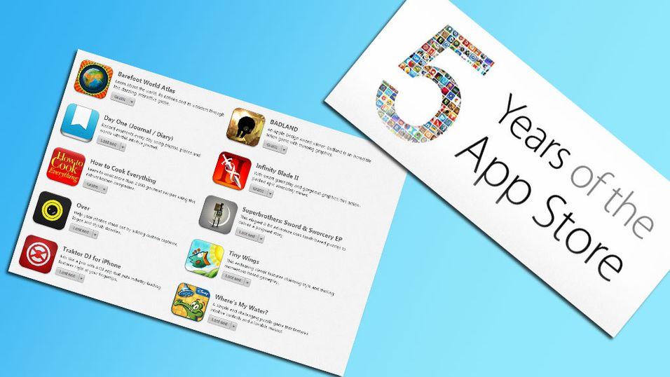 App Store fyller 5 år