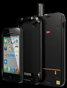 Satsleeve kan plukkes i tre deler - iPhone, holder og hovedenhet. Batteriet er utskiftbart.