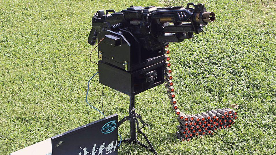 Her er en automatisk Nerf-skyter