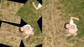 Bildene som faktisk blir tatt vs. det endelige resultatet.