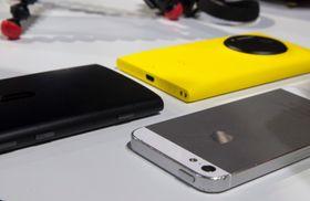 Lumia 920, Lumia 1020 og Apple iPhone 5.