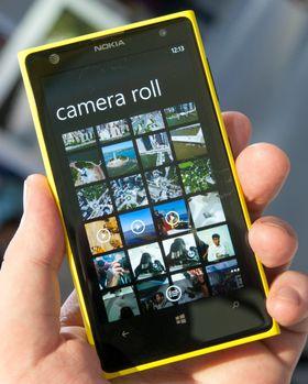 Galleri-appen i Lumia 1020 ser ut slik den pleier på Windows Phone.