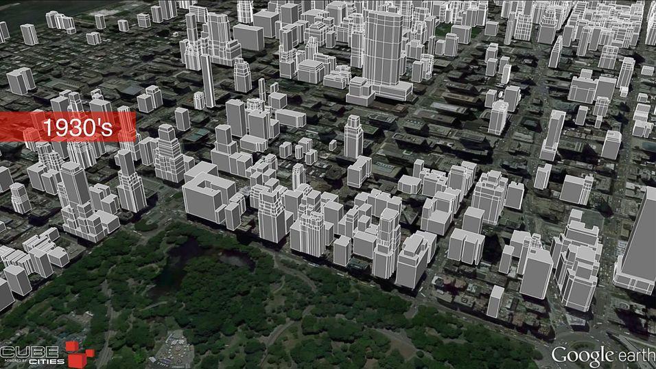 Se byer vokse opp med stilig 3D-animasjon
