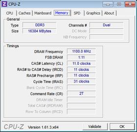 Corsair Vengeance Pro OC - 2200 MHz CL11-11-11-31.