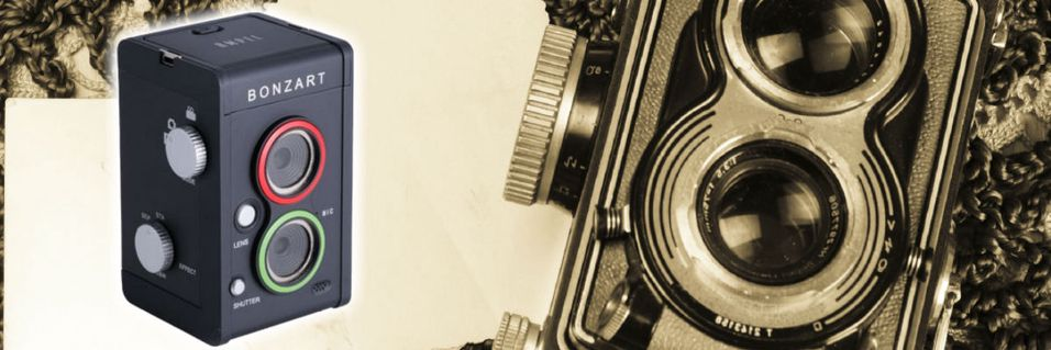 Lager kameraleketøy med tilt-shift