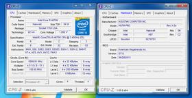 En skjermdump som viser at Asus overklokket en Haswell-prosessor på H87-brikkesettet.