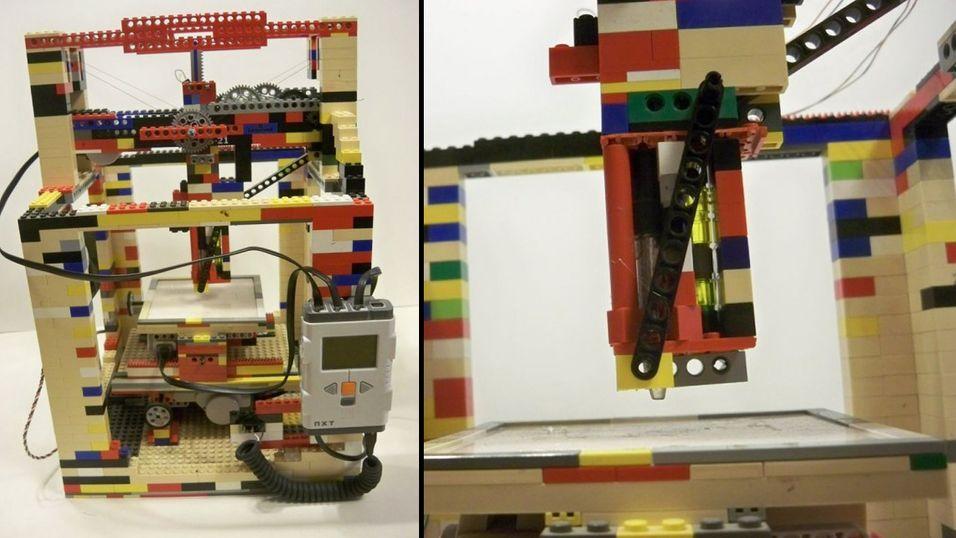 Denne 3D-printeren er lagd av Lego