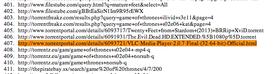 Skjermdump fra søknaden HBO sendte til Google for å få fjernet opphavsbeskyttet innhold.