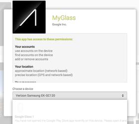 Fra MyGlass til Google Play?