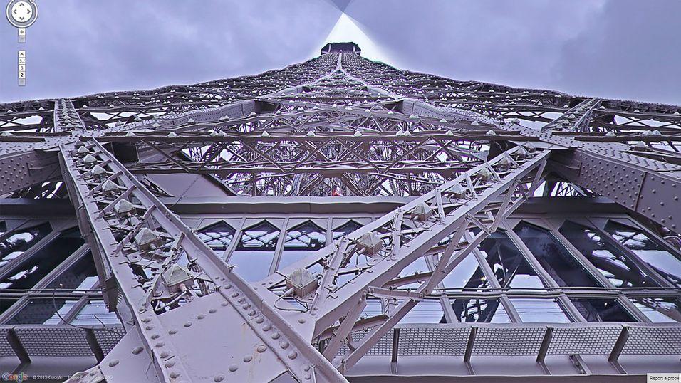 Street View tar deg med opp i Eiffeltårnet