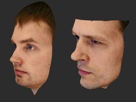 Ansiktsscanning med speilrefleks-kamera gir slående gode resultater.
