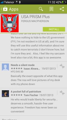 Flere brukere har alt kommentert den nye appen.