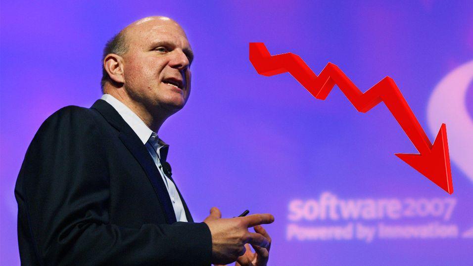 Microsoft stuper på børsen