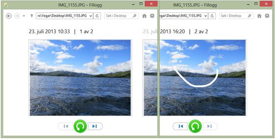 Forhåndsvisningen gjør det enkelt å velge riktig versjon. (Bildet er satt sammen av to skjermbilder).
