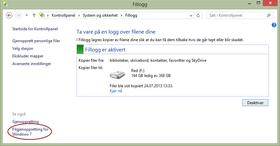 Fra Fillogg-panelet kan du klikke deg rett til Filgjenoppretting for Windows 7.