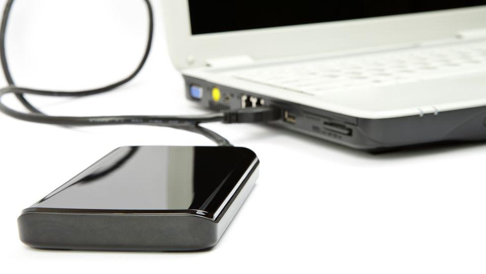 Med en liten ekstern harddisk tar det bare minutter å opprette en trygg og smart sikkerhetskopi.