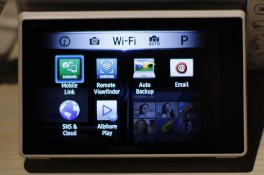 WiFi-menyen til Samsung NX300.