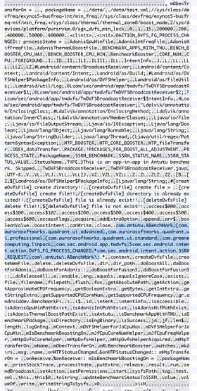 """I denne systemfilen fins det referanser både til """"BenchmarkBooster"""" og til konkrete ytelsestester. Klikk på bildet for å se mer hos Anandtech.com."""