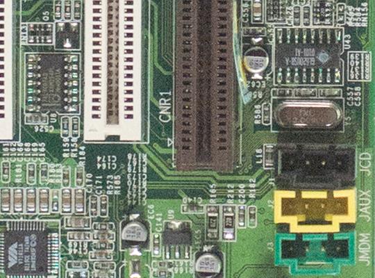 Utsnitt av hovedkort, f5,6 @ ISO 3200 (RAW) Samsung NX300.