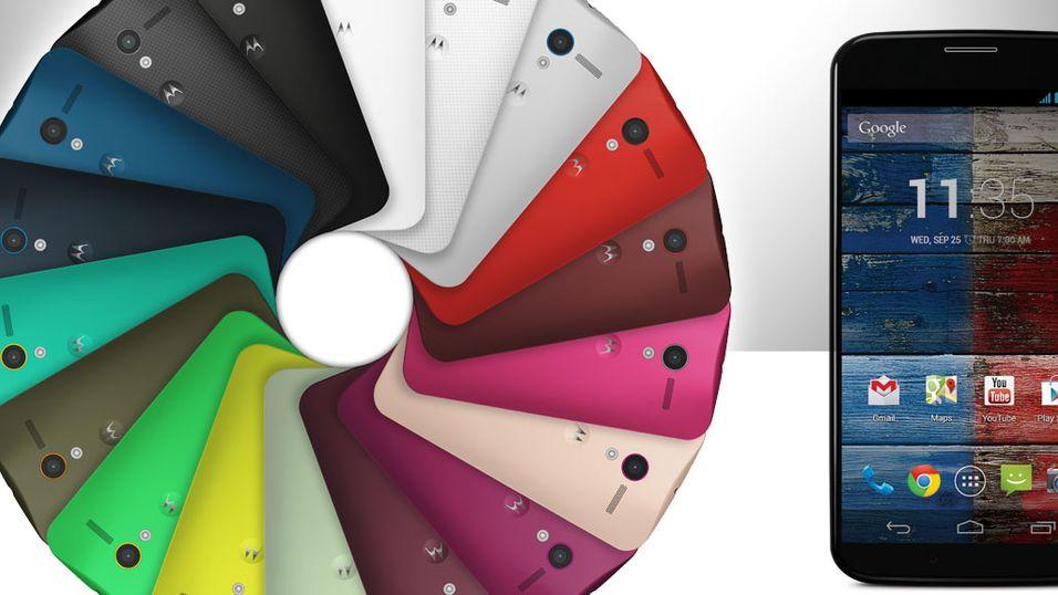 Fargerik lansering av Googles Moto X