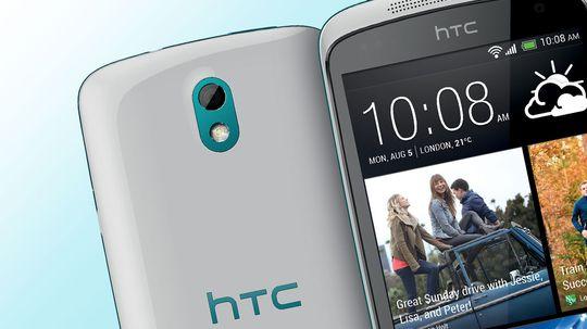 HTC Desire 500 er rimelig og lekker.
