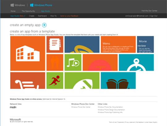 Slik ser grensesnittet for Microsofts nye utviklerverktøy ut.