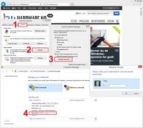 Slik finner du passordlisten i Internet Explorer.