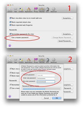 Slik setter du et hovedpassord i Firefox. Foto: Hardware.no.