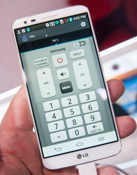Vi liker at LG ser ut til å tilby en langt mer tradisjonell universalfjernkontroll i G2 enn Samsung og HTC gjør i Galaxy S4 og One. Her handler ikke alt om kabel-TV-tilbydere, men heller om det konkrete utstyret du har i TV-stua.