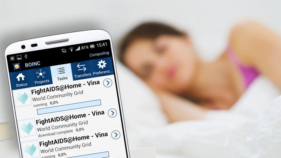 La mobilen kurere sykdommer mens du sover