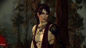 Morrigan fra Dragon Age: Origins. Fortsatt litt skeptisk.