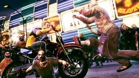 Chuck Green i hovedrollen, fra originalutgaven av Dead Rising 2.
