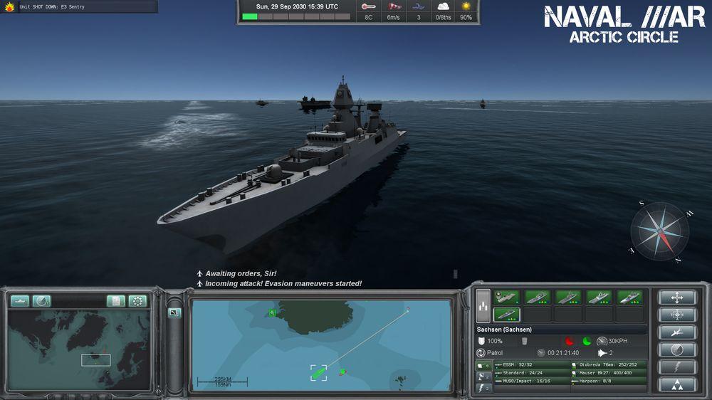 Det første spillet til Turbo Tape Games var Naval War: Arctic Circle.