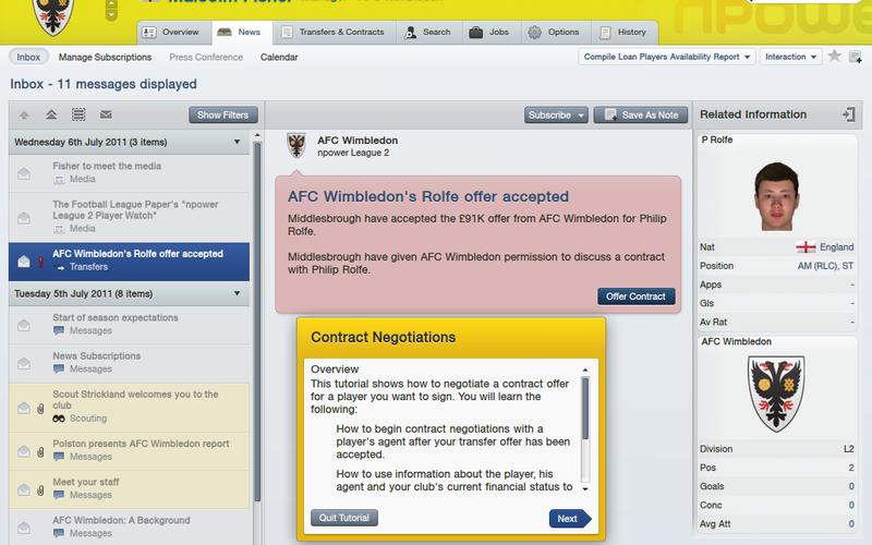 Первый скриншот из игры Football Manager 2012.