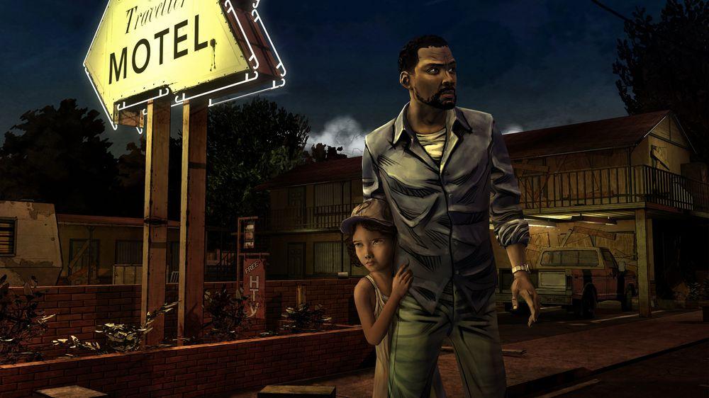 Lee og Clementine får et nært forhold i The Walking Dead. (Skjermbilde: Telltale Games).