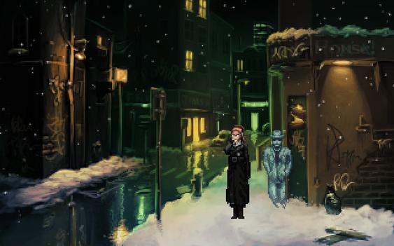 Skjermbilde fra The Blackwell Epiphany, det siste spillet i serien.